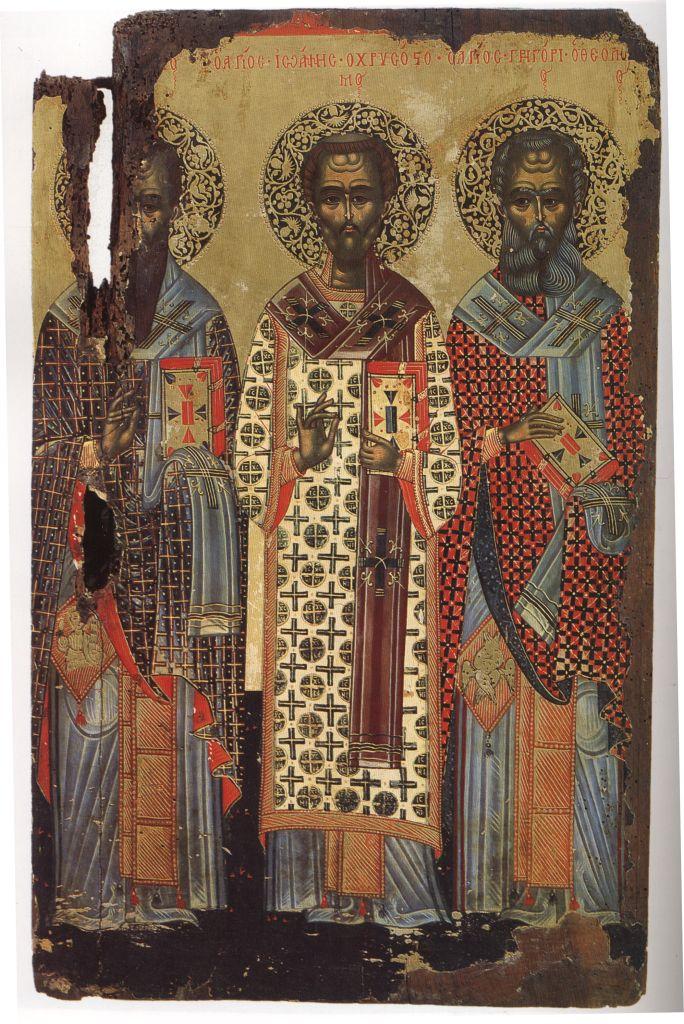 Па.112. Св. три Иерарха (33,5 на 25) кон.17 в
