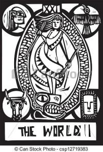 World Tarot Card.