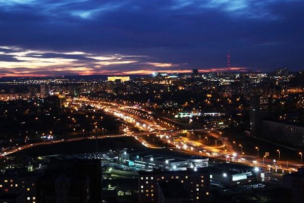 Уфа Ночью Фото