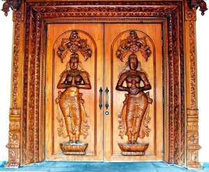 Decorative carved doors