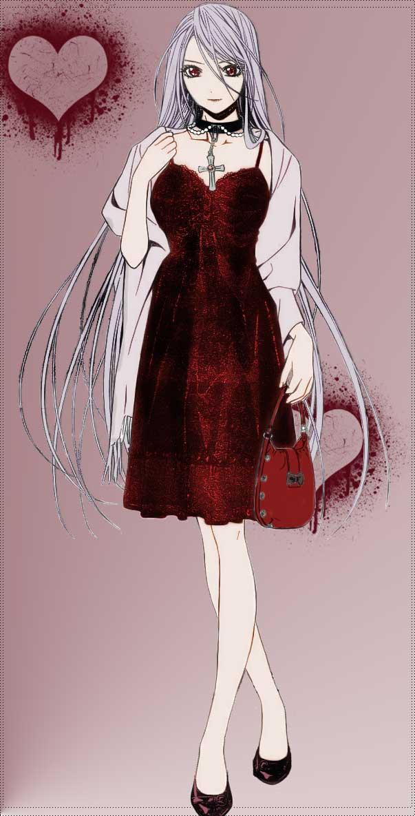 Rosario And Vampire Inner Moka Akashiya Cosplay