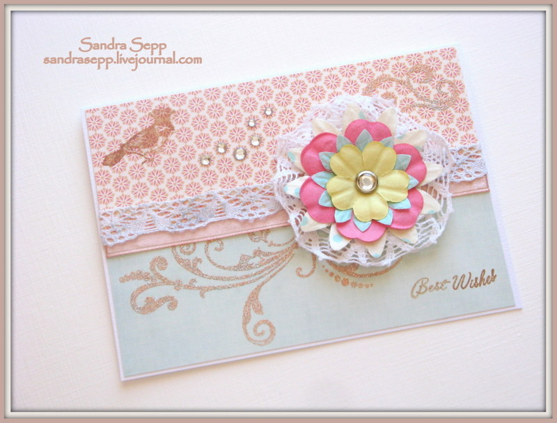 best wishes flower broche 005
