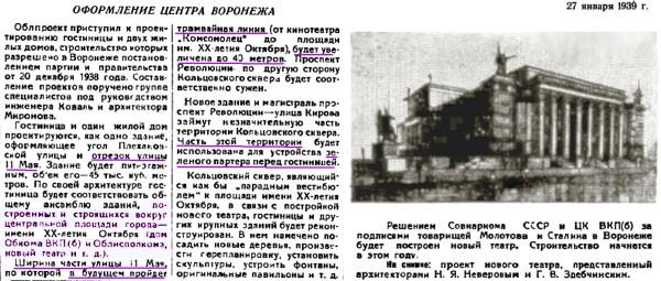 Воронеж и проекты центра города. Видение и реальность ...