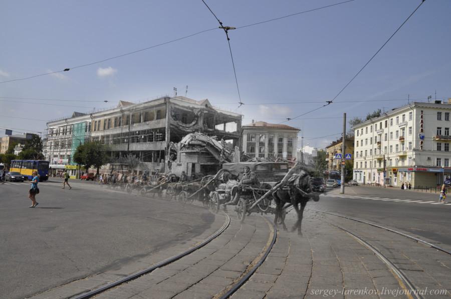 20.Smolensk 1942-2013 convoy en Plaza de la Victoria