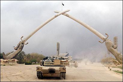 The fall of Baghdad begins 27kb