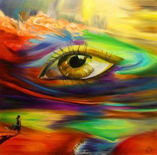 Rainbow eye cover photo