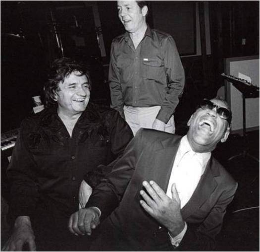 Johnny Cash and Ray Charles