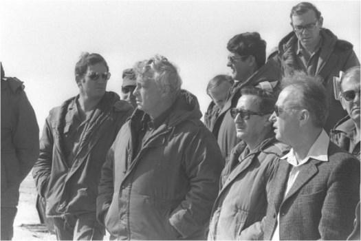 Le Premier ministre Ytzhak Rabin et son conseiller