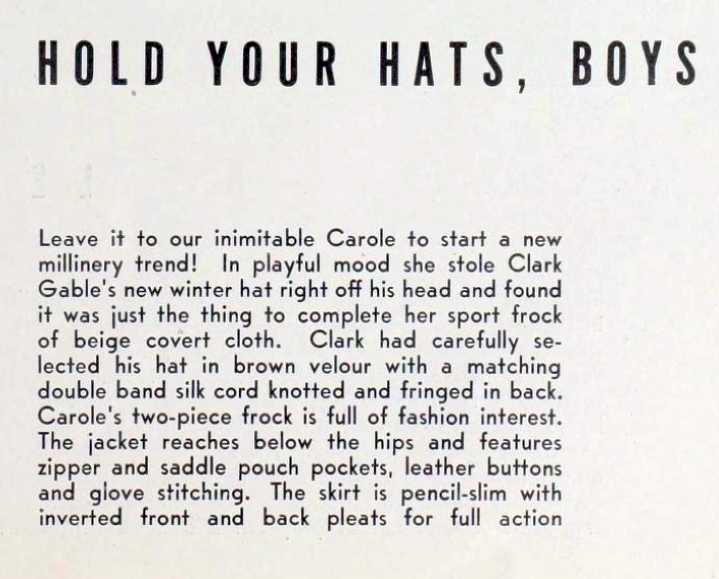 carole lombard photoplay dec 1937ac fashion