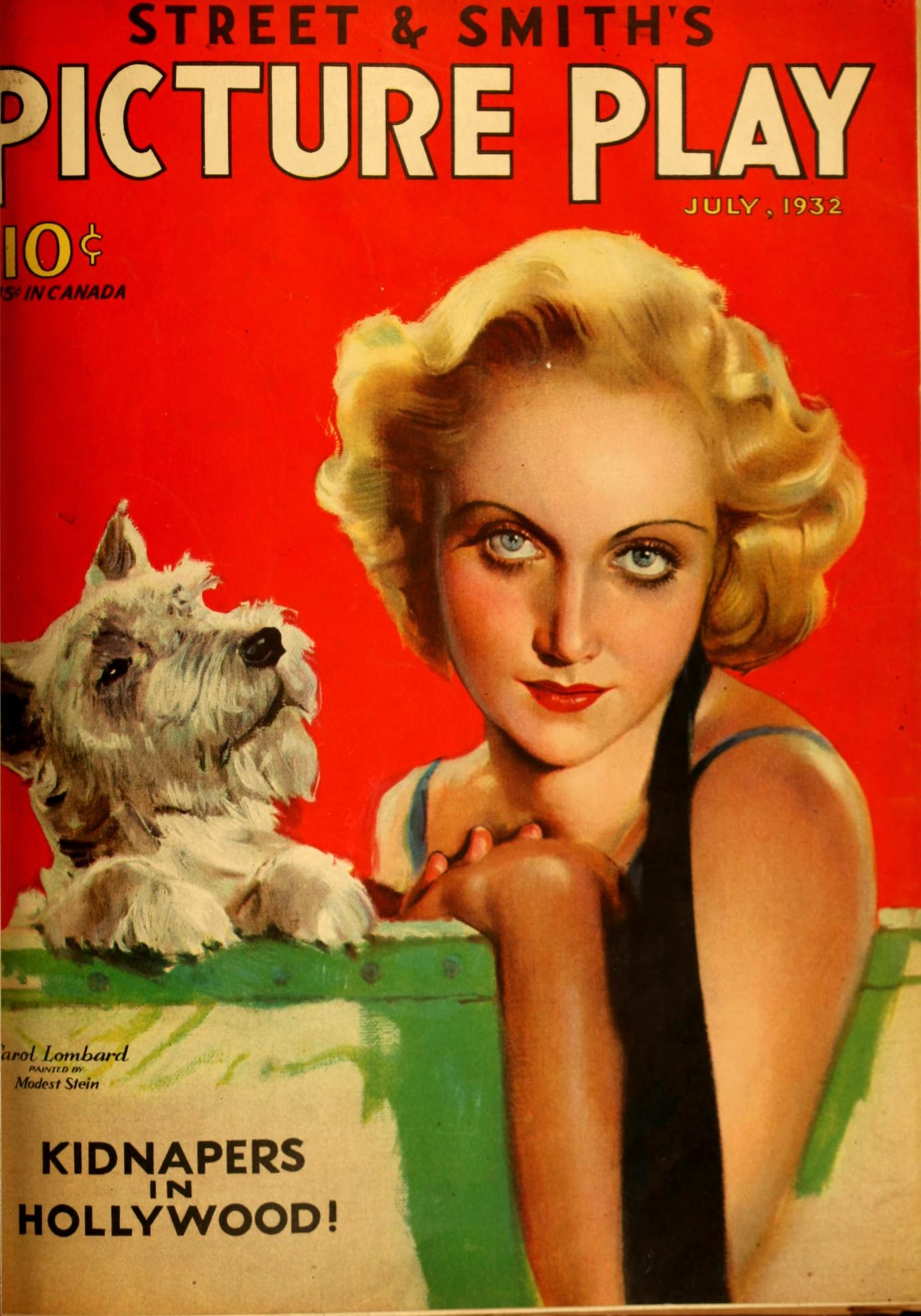 carole lombard picture play july 1932 cover