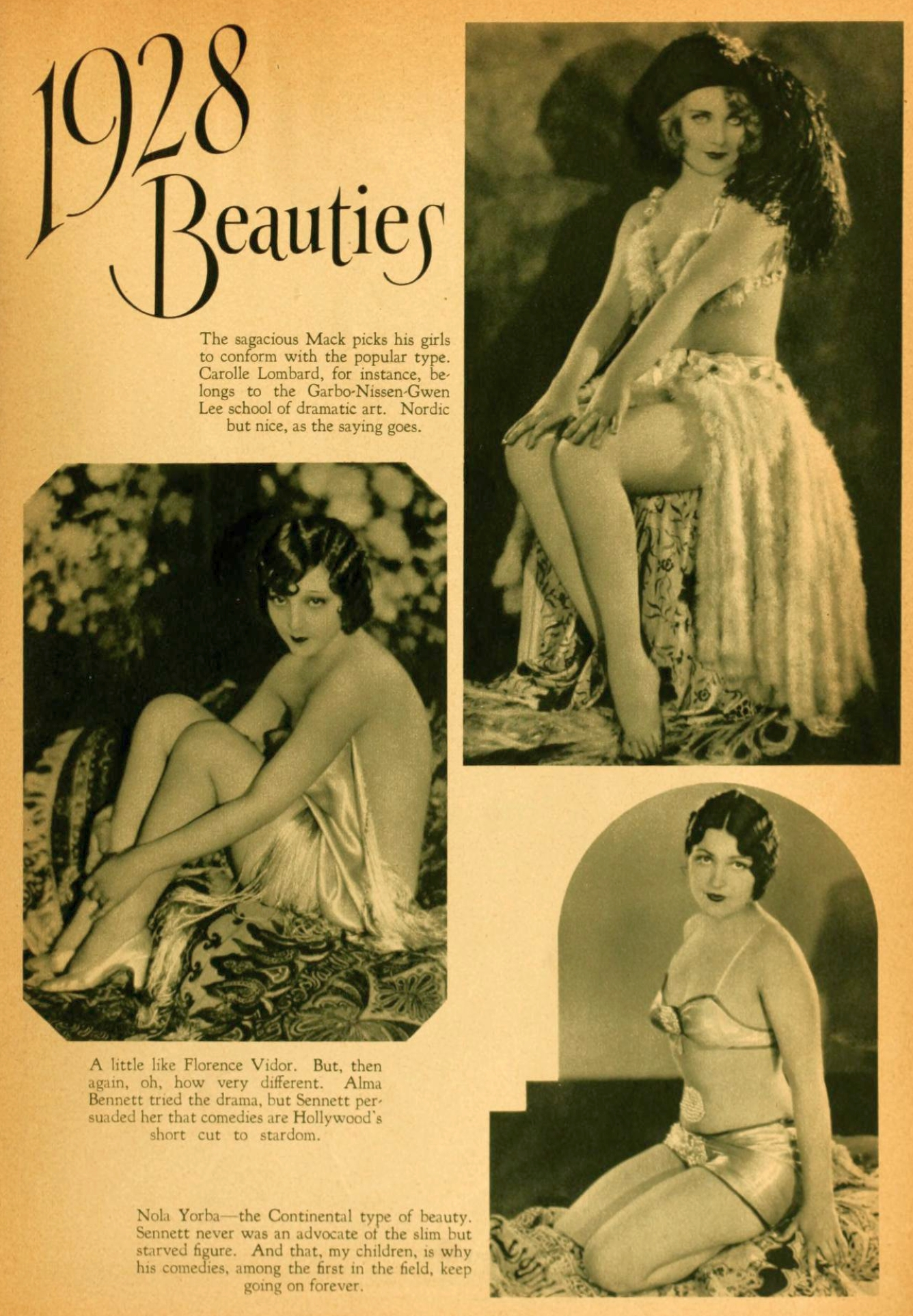 carole lombard photoplay december 1927ba