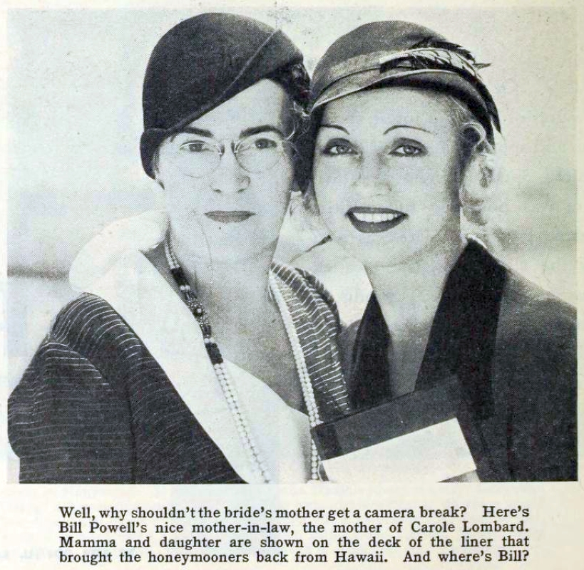 carole lombard photoplay nov 1931 with mother large