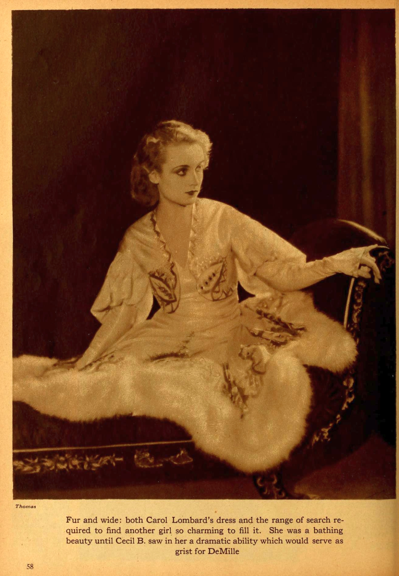 carole lombard motion picture may 1929 a teddy-made actress 00a