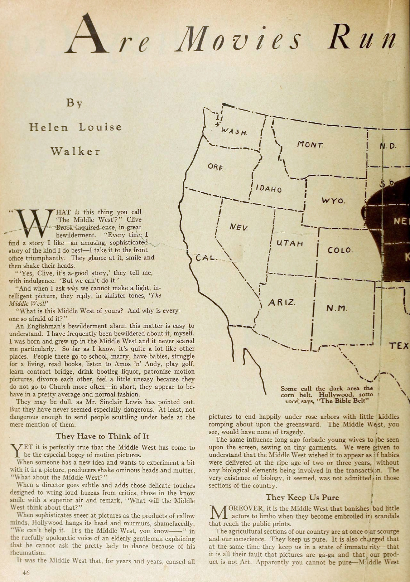 motion picture april 1931 are movies run by the middle west 00a