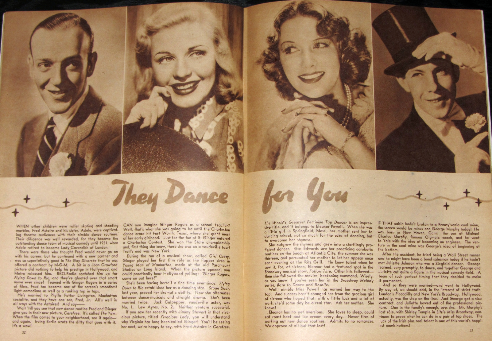 carole lombard screen album summer 1938 they dance for you large