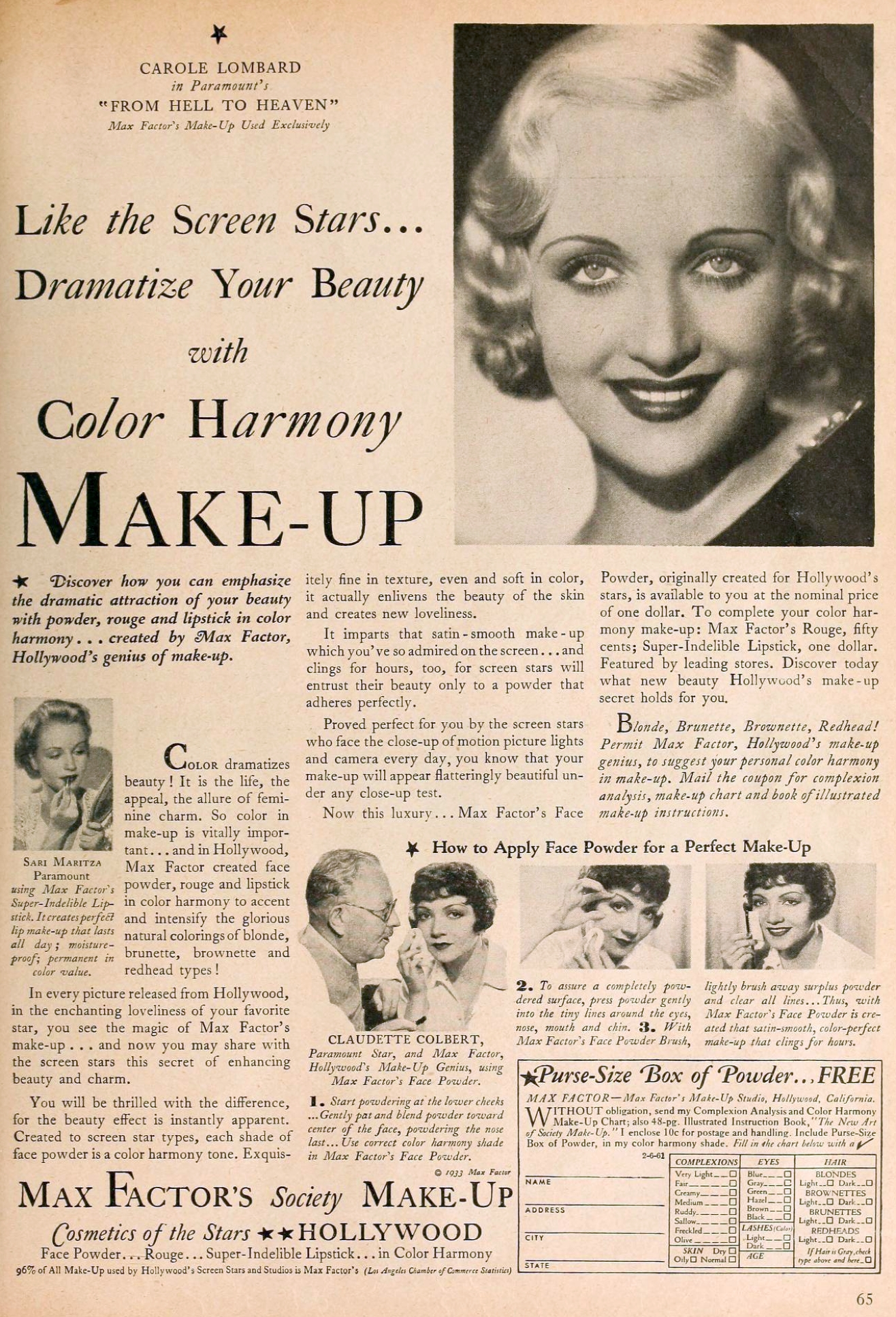 carole lombard motion picture june 1933 max factor ad 00a