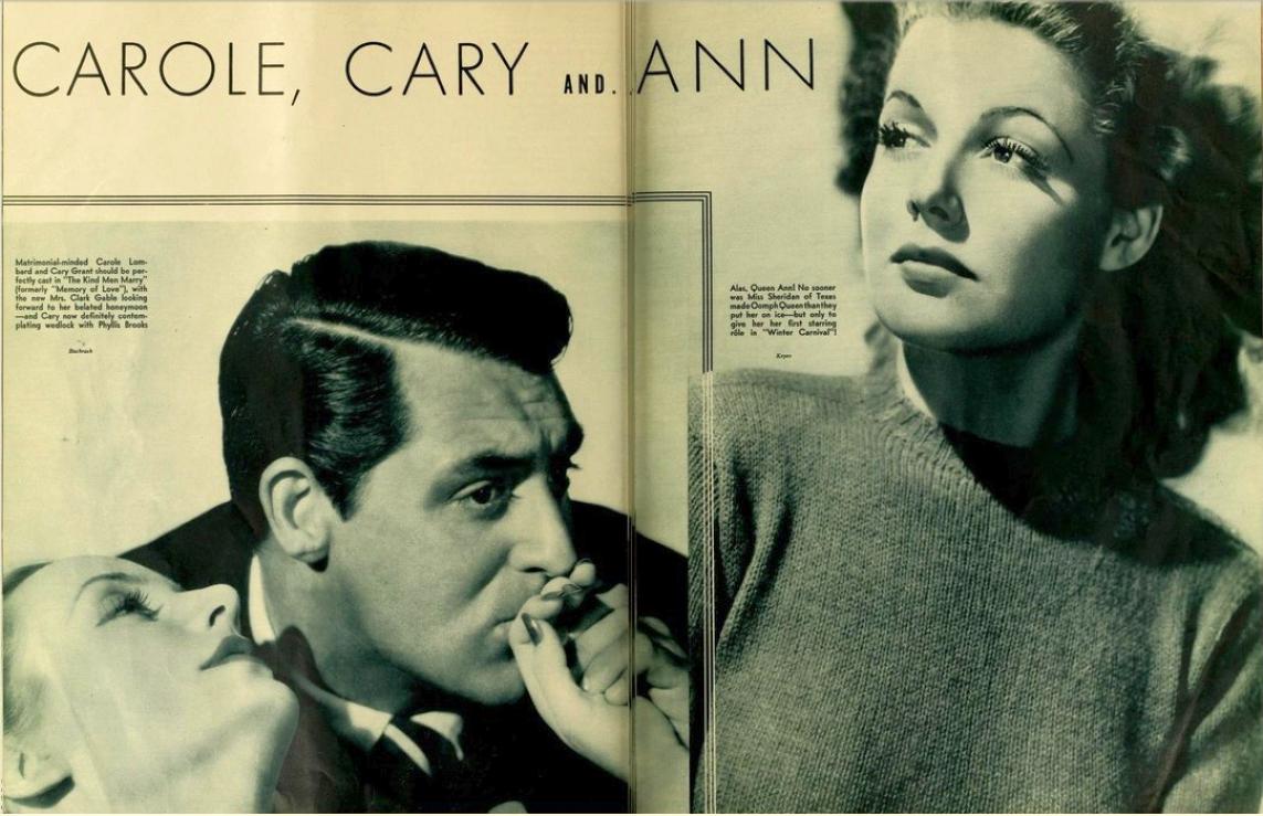carole lombard photoplay sept 1939 carole, cary and ann 00
