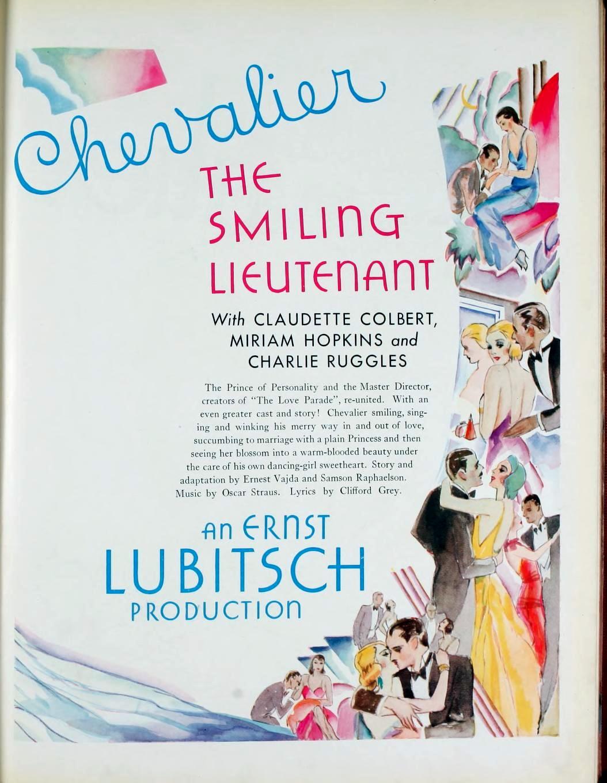 the smiling lieutenant 1931-32 paramount pressbook 01a