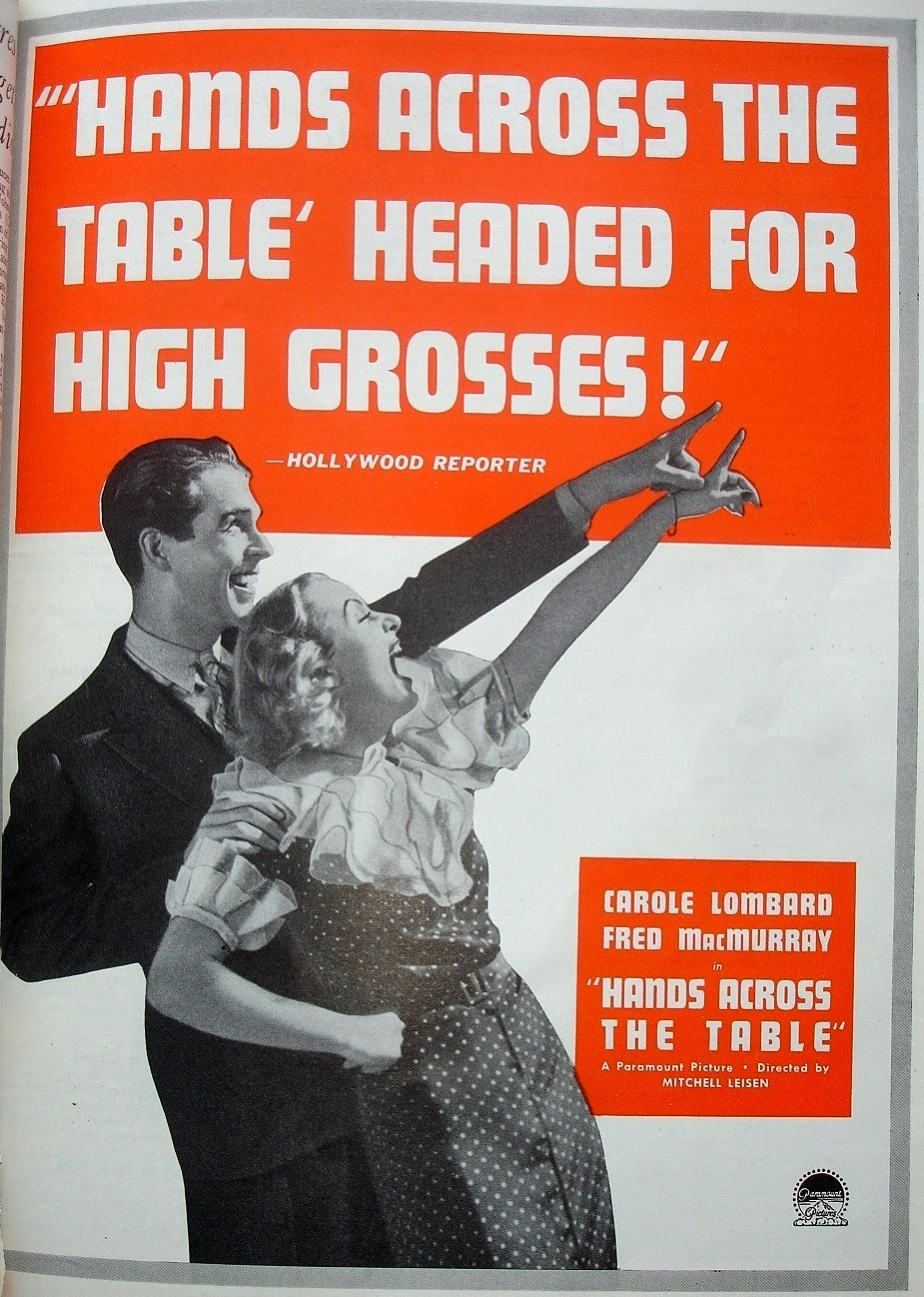 carole lombard hands across the table motion picture herald 101935a