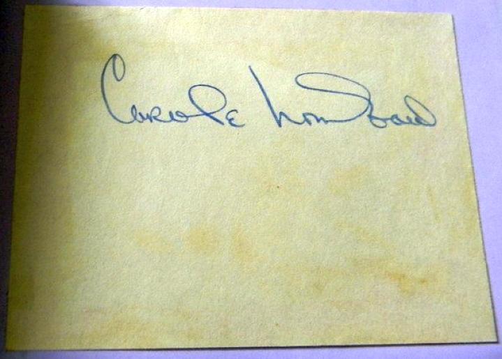 carole lombard autograph 80a