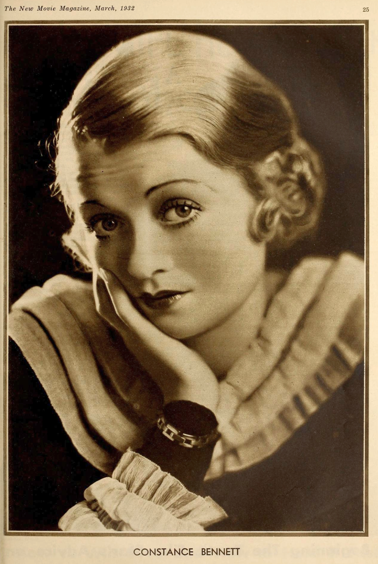 constance bennett the new movie magazine march 1932a