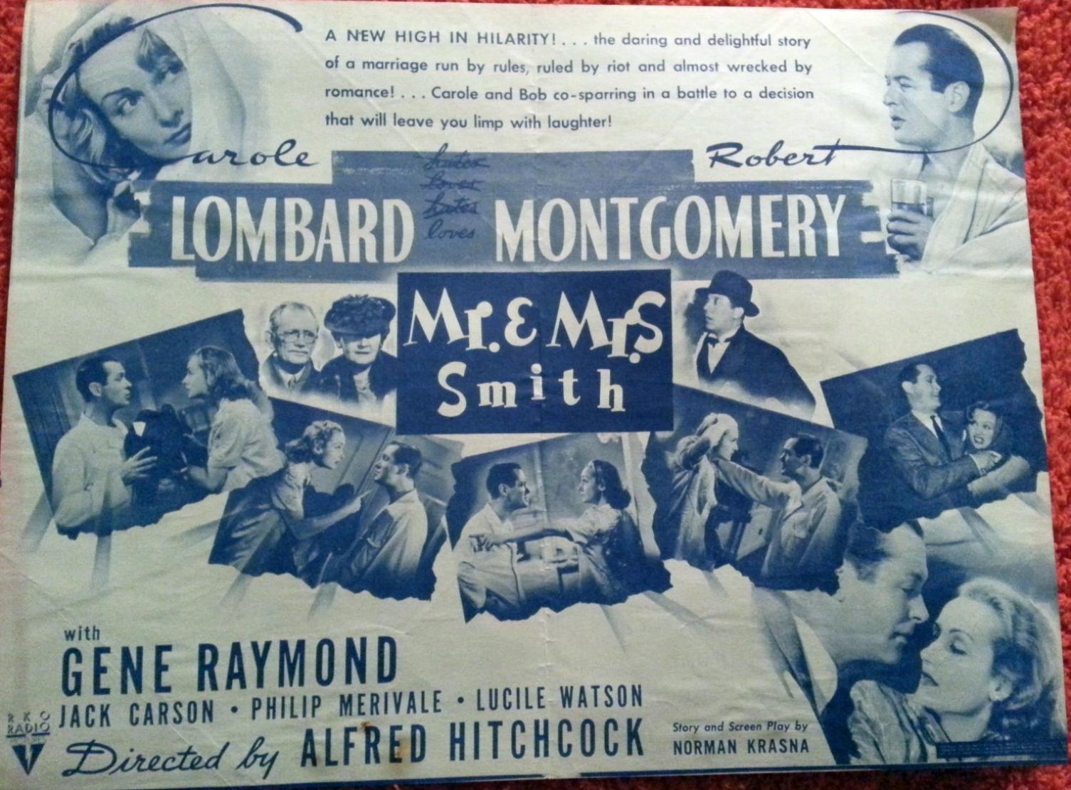 carole lombard mr. & mrs. smith majestic theater dallas 00a front