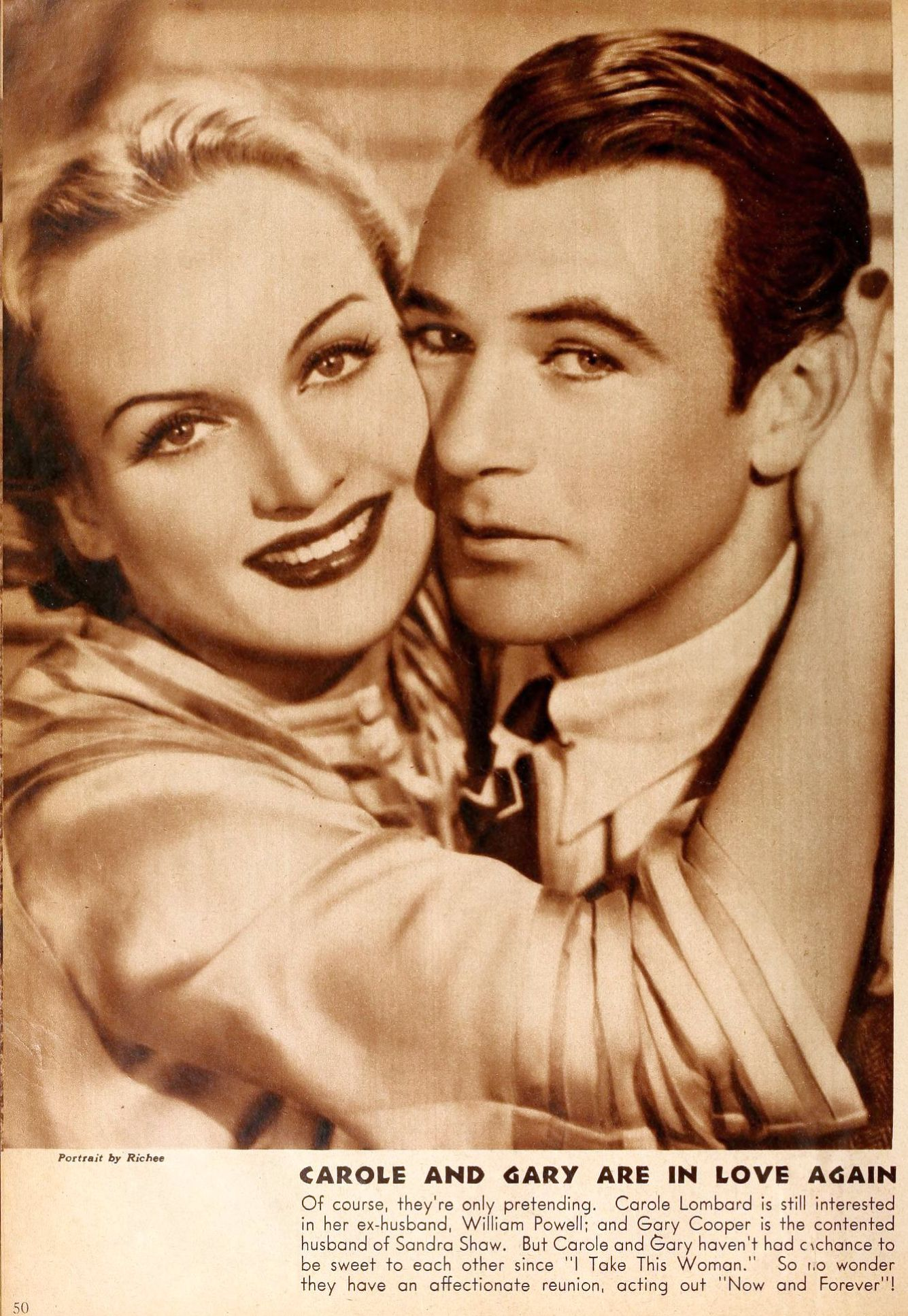 carole lombard now and forever gary cooper motion picture september 1934a
