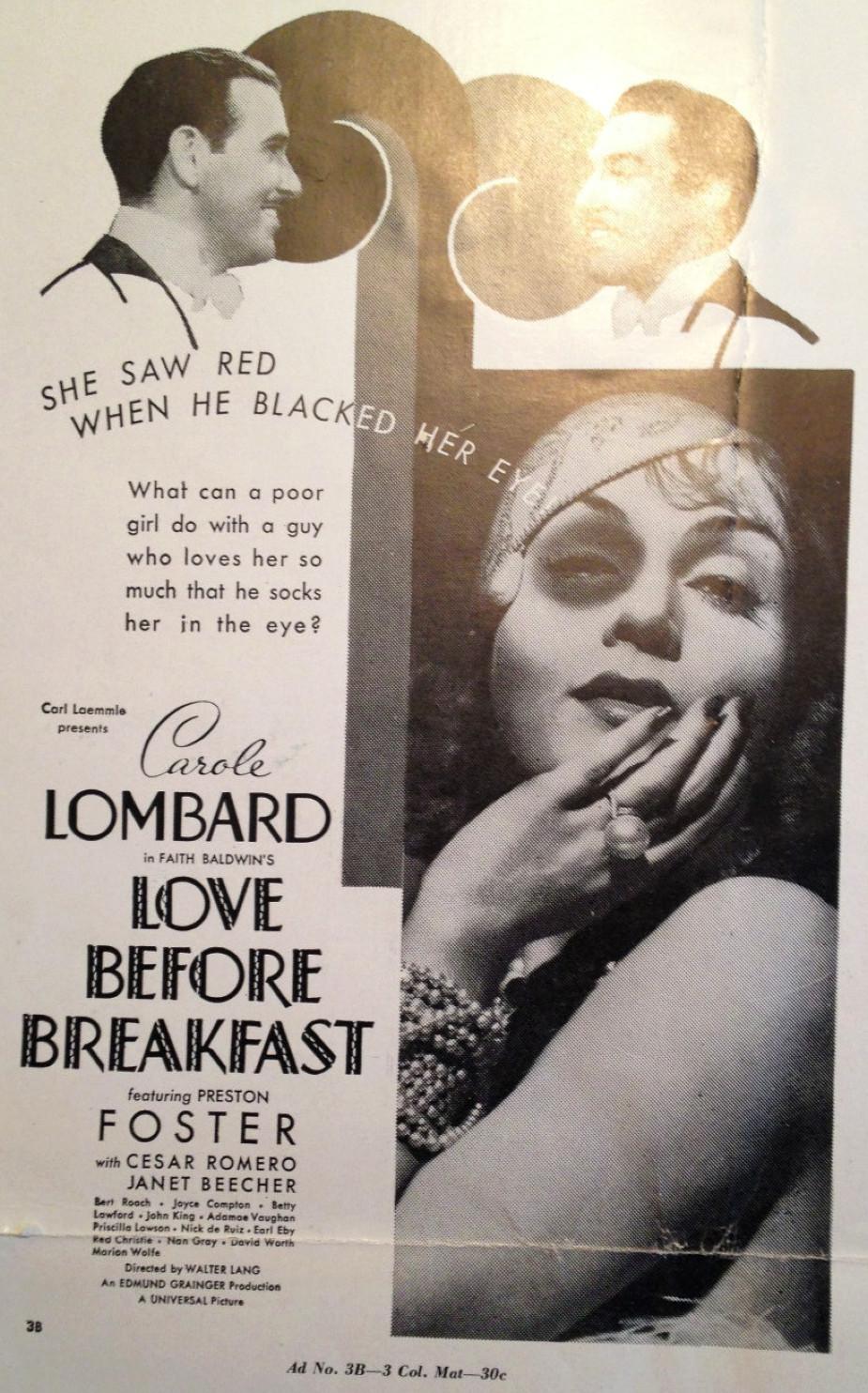 carole lombard love before breakfast pressbook 07a