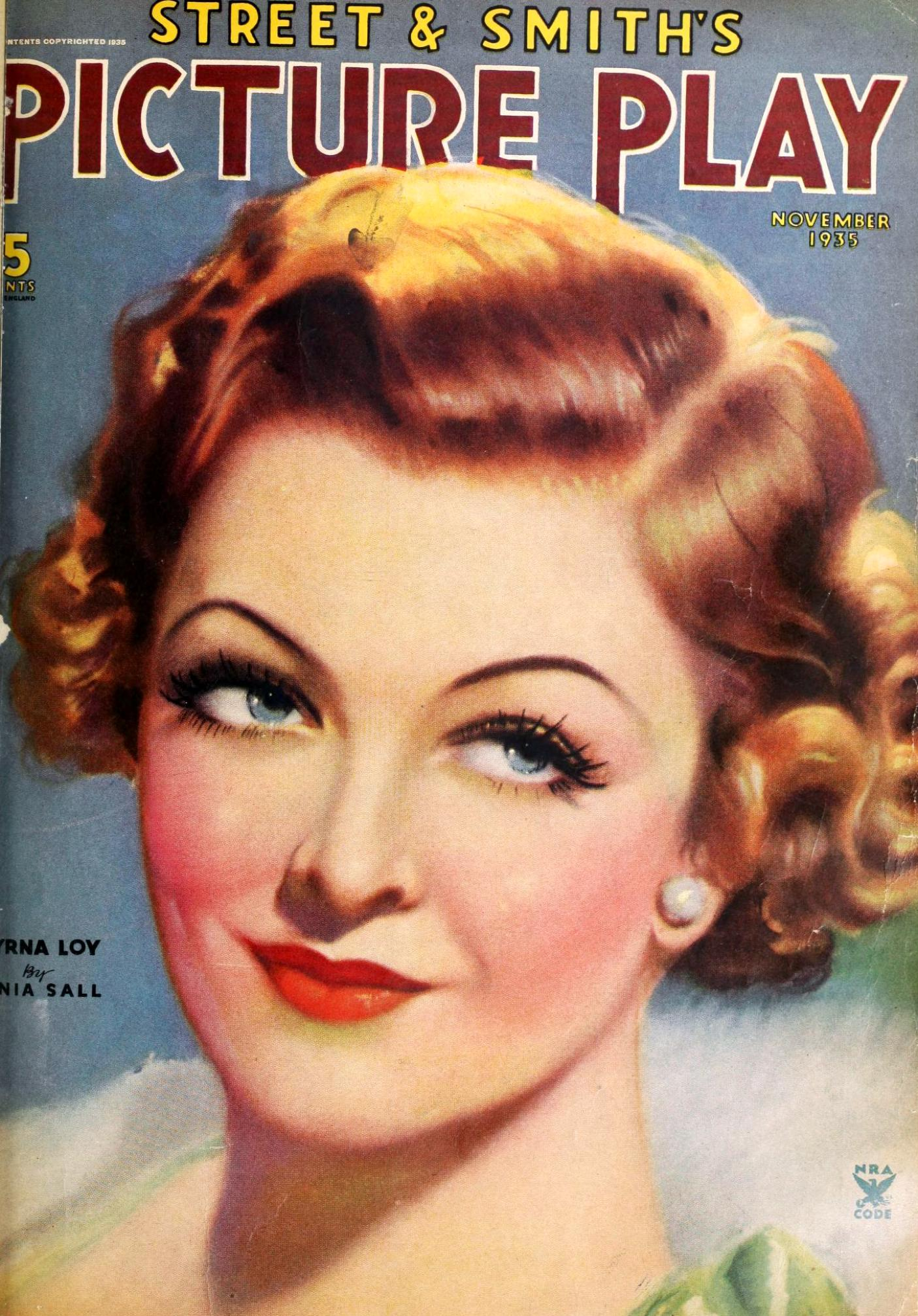 myrna loy picture play november 1935 cover large