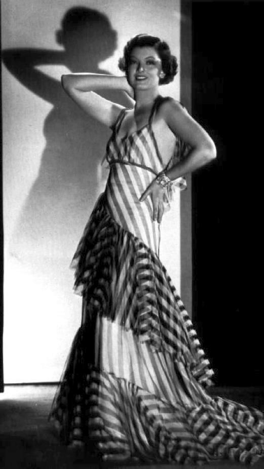 myrna loy the thin man striped dress 00a