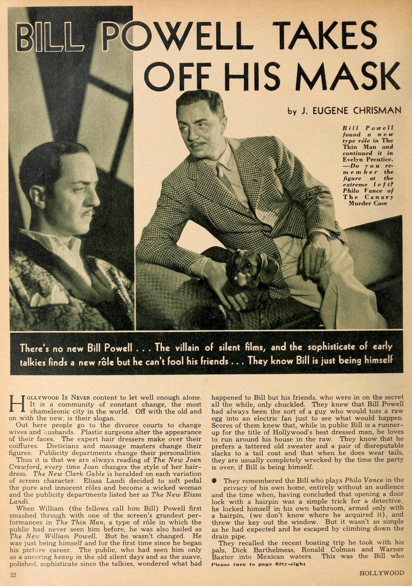 william powell hollywood february 1935aa