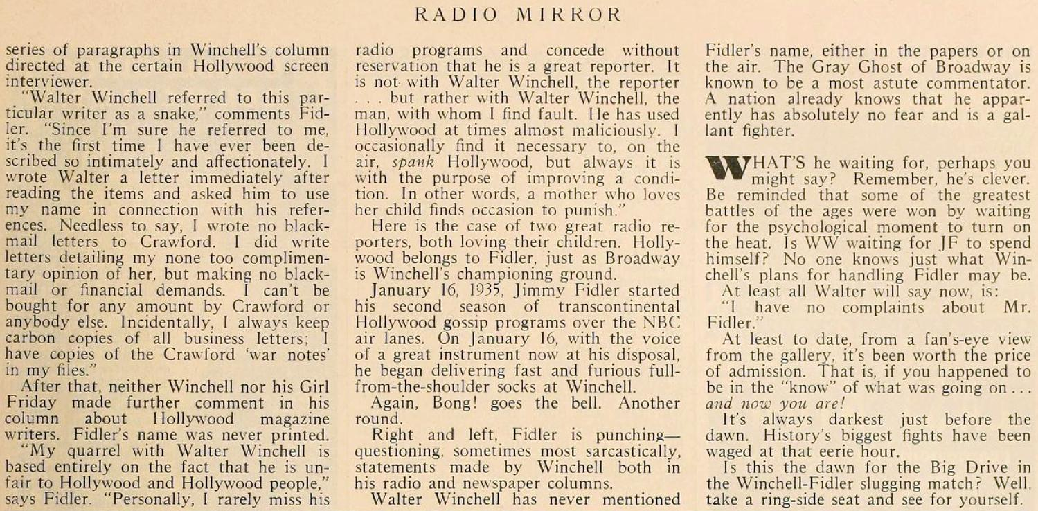 carole lombard radio mirror july 1935da