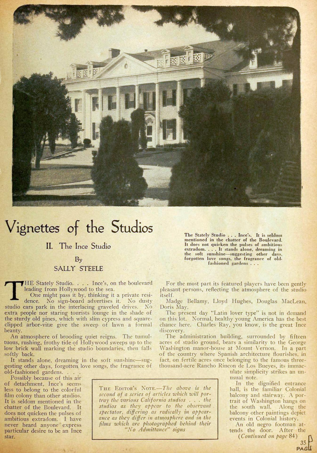 motion picture vignettes of the studios 02aa ince december 1923
