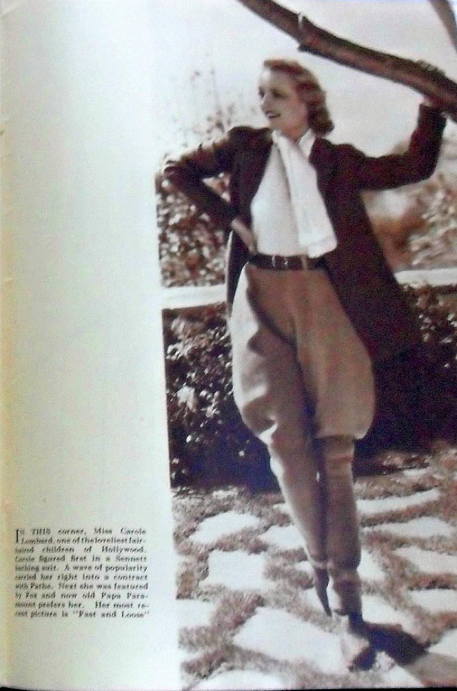 carole lombard silver screen february 1931b