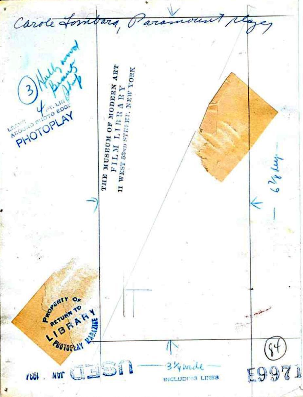 carole lombard photoplay january 1934ao back