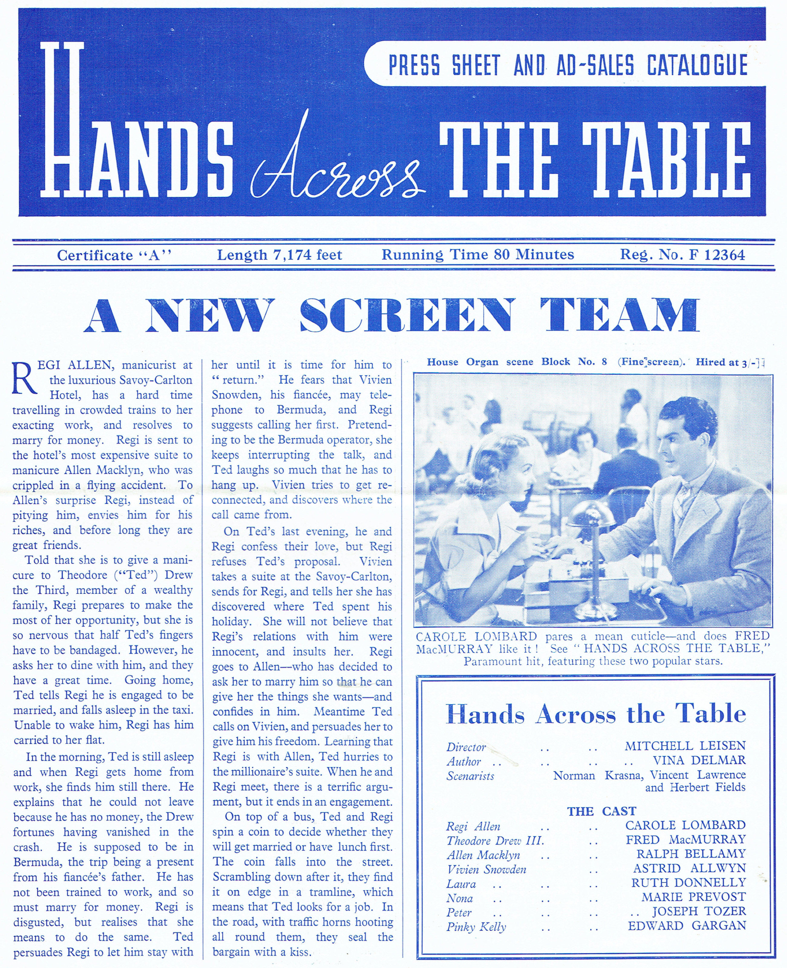 carole lombard hands across the table british pressbook 02b