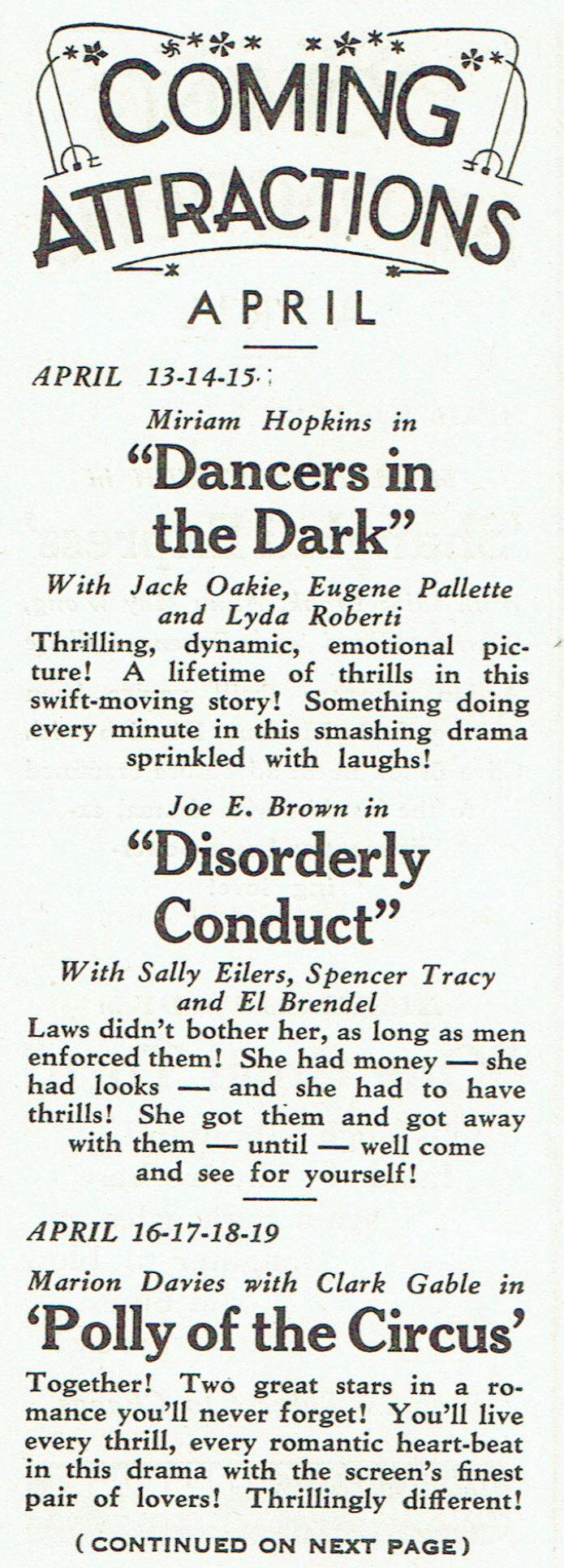carole lombard publix theatre screen review april 1932jb