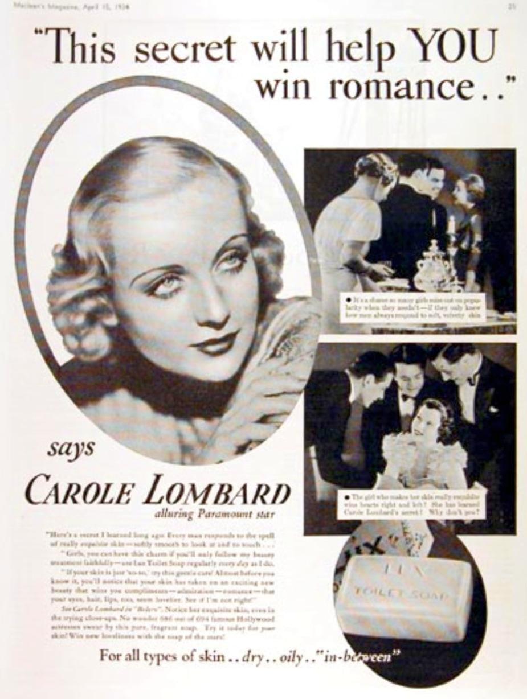 carole lombard lux ad 01a