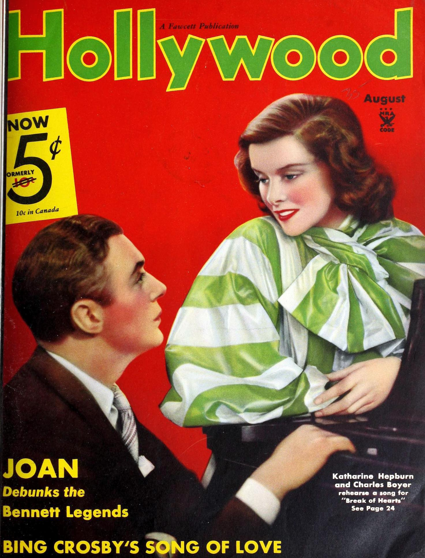 hollywood august 1935 cover large