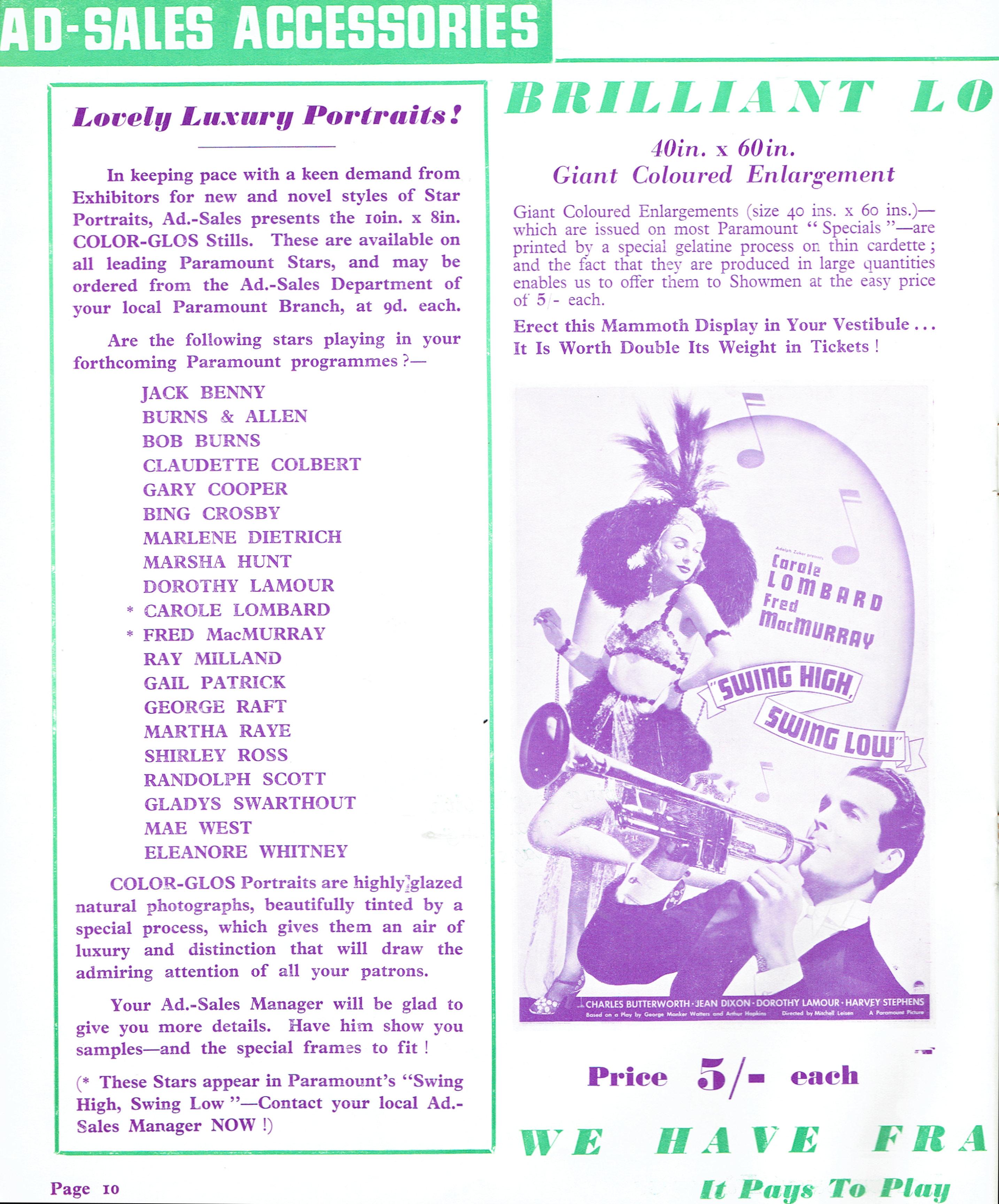 carole lombard swing high, swing low uk pressbook 09