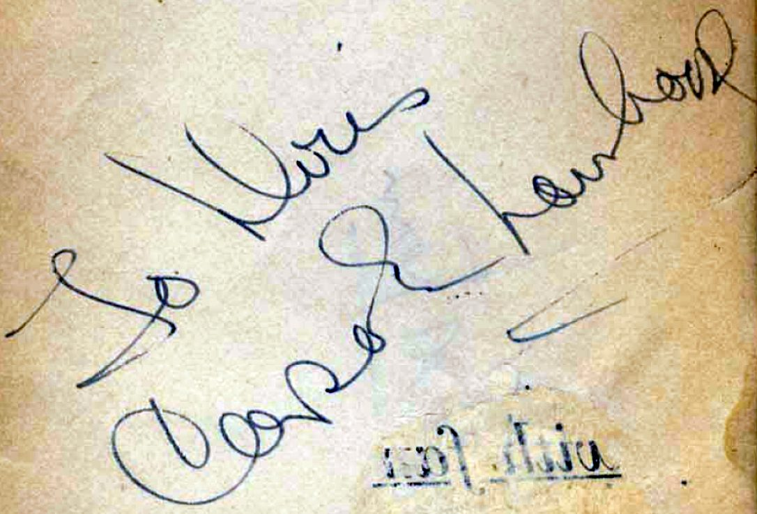 carole lombard autograph 87b