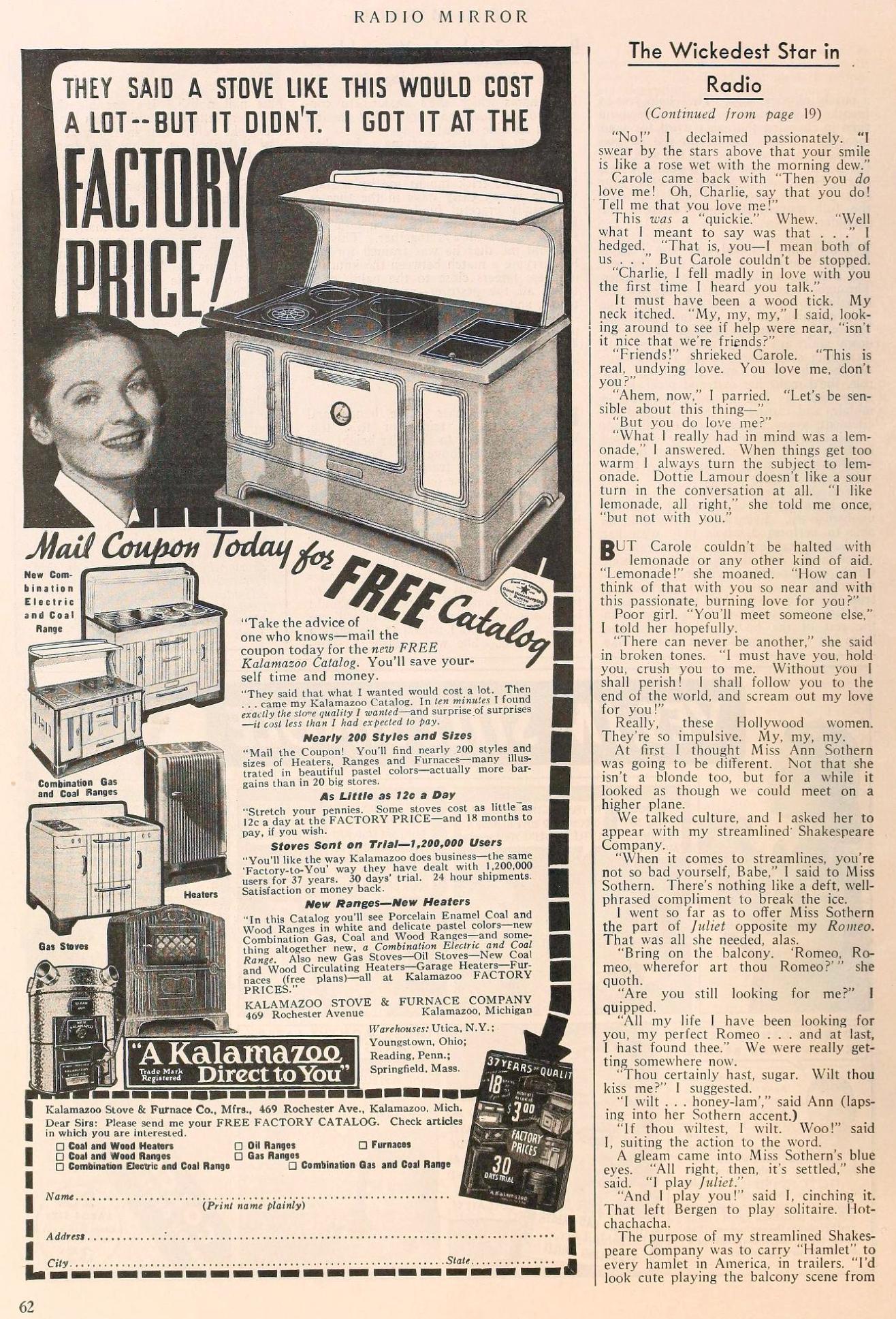 carole lombard radio mirror november 1937ca