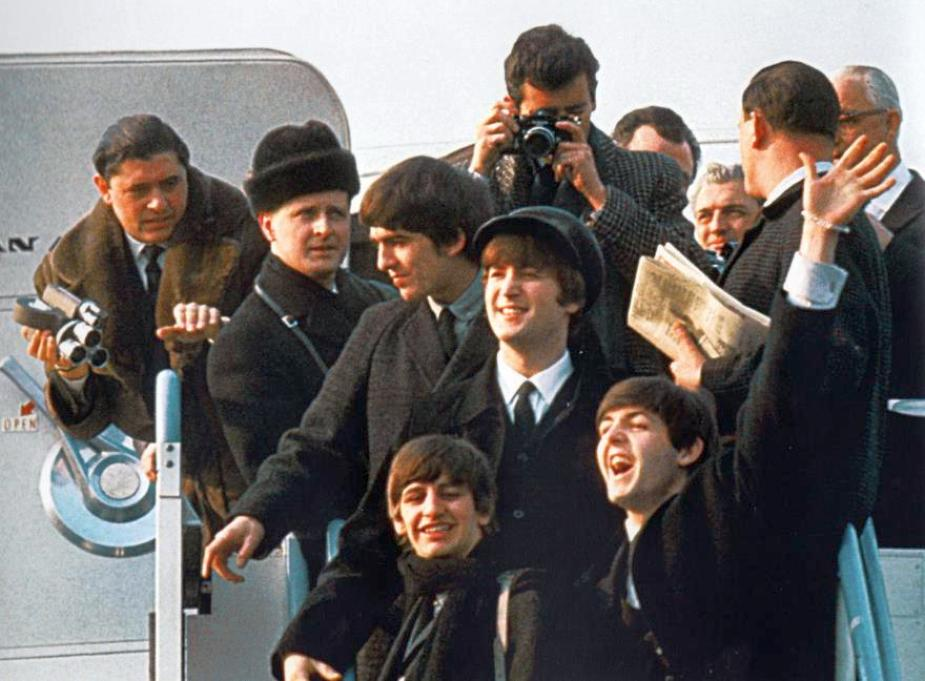beatles 020764a arrive at nyc