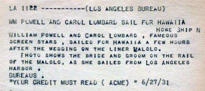 carole lombard william powell 062731 honeymoon front bottom