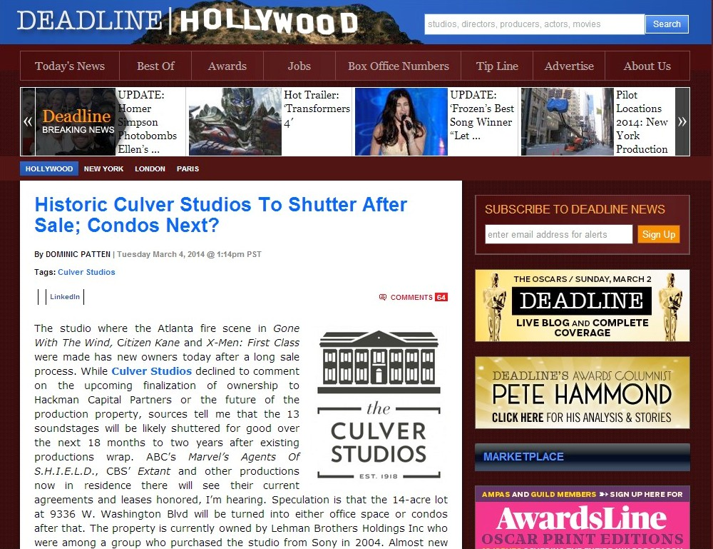 culver studios deadline hollywood 030414