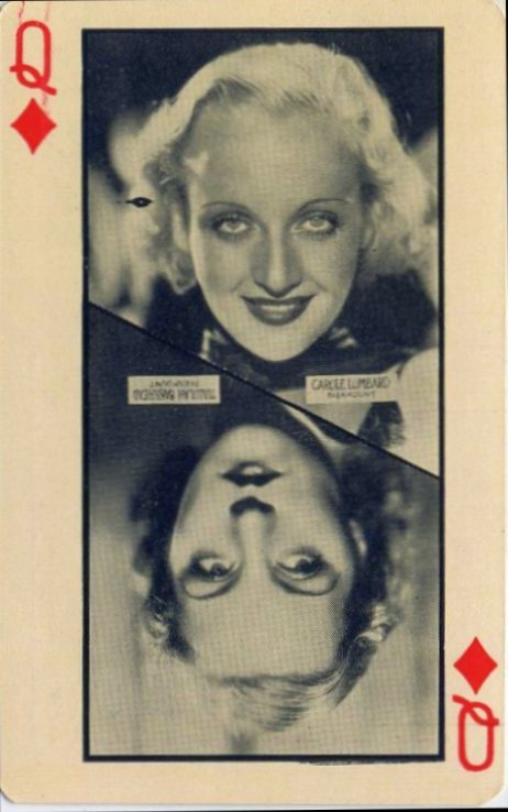 carole lombard 1932 olympics playing cards 00b