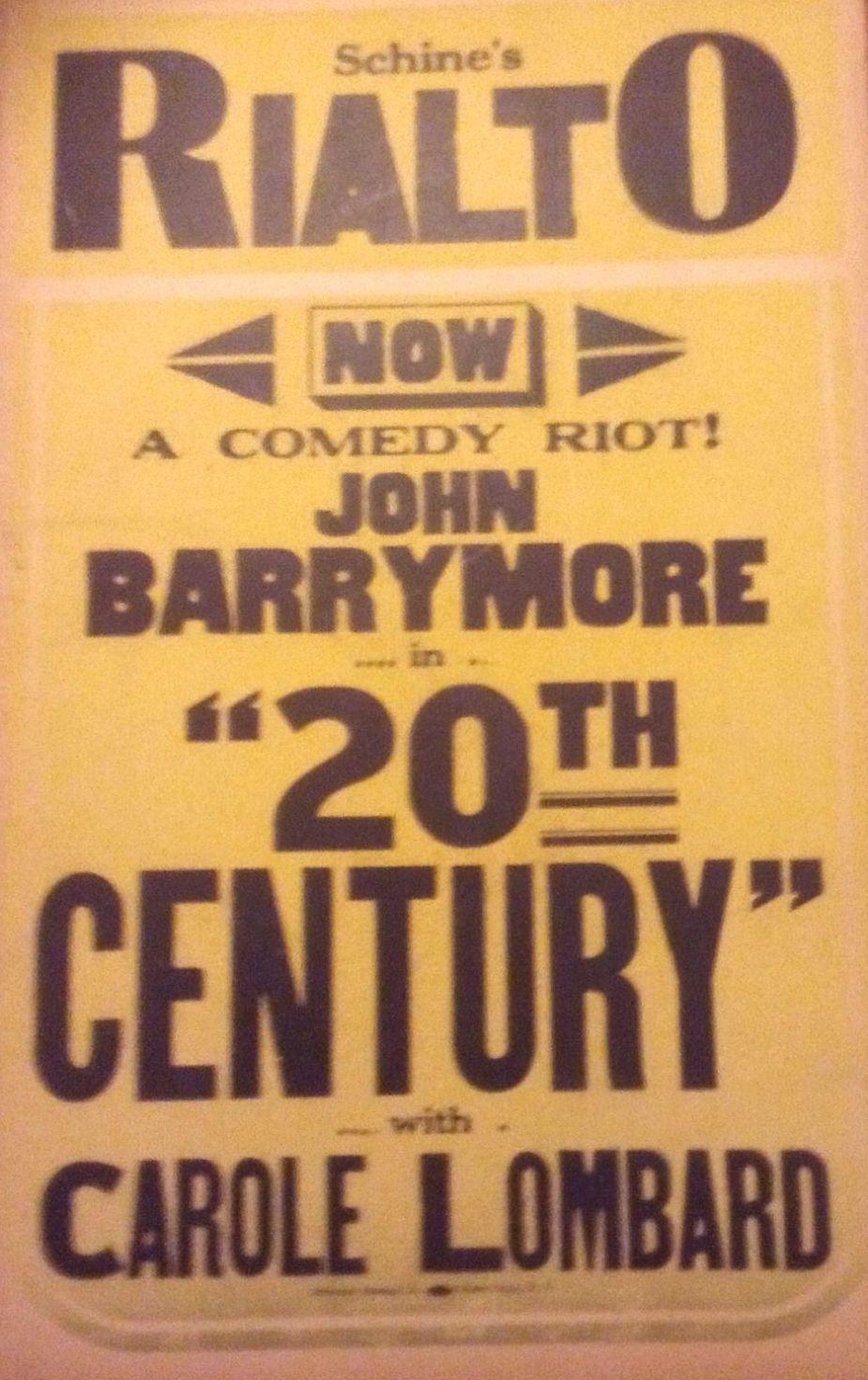 carole lombard twentieth century schine's rialto poster 00a