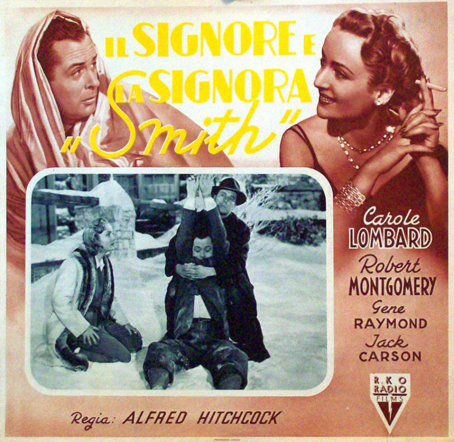 carole lombard mr. & mrs. smith italian poster 01b