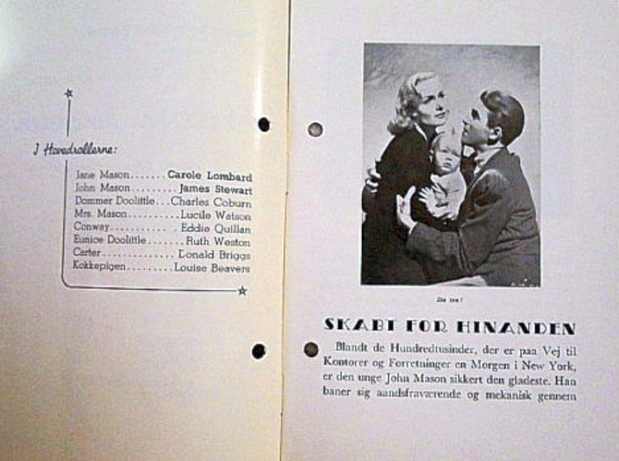 carole lombard made for each other danish novel program 02a