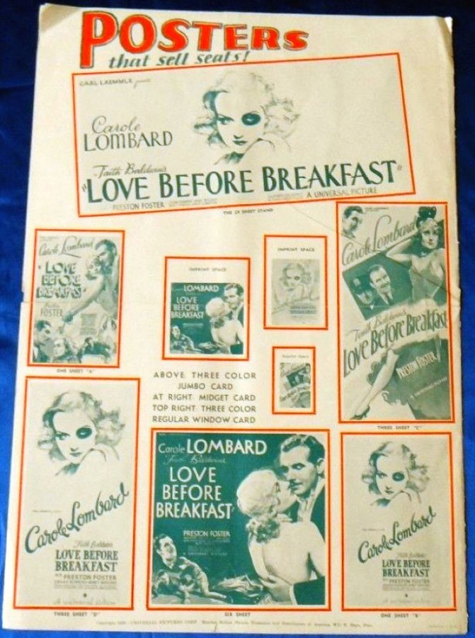 carole lombard love before breakfast press kit 03a
